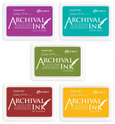 Ranger - Wendy Vecchi Archival Ink Pads - 5 item Bundle