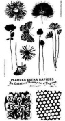Stampington & Co Fresh Flowers Cling Rubber Stamp Set C8466 Garden Blooms