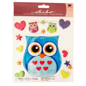 Sticko I Love Owls Large Three Dimensional Stickers Great for Scrapbooking, Crafting, Cardmaking, and Decorating