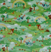 Rainbow Woodland by Red Rooster Cotton Fabric for Sewing and Quilting