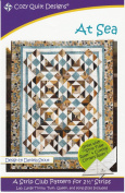 At Sea Quilt Pattern, Jelly Roll, Bali Pop, 6.4cm Strip Friendly, 5 Finished Size options