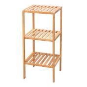 Square Original Colour,3 Shelves Bamboo Storage Shelf