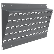Akro-Mils 30637A Powder Coated Steel Louvred Lean Wall Mounted Panel for Plastic Hanging Bins