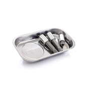 Capri Tools Stainless Steel Rectangle Magnetic Parts Tray Tool