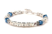 Mothers Bracelet - Sterling Silver Beads -Any Birth Month & Name