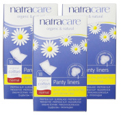 Natracare Normal Wrapped Panty Liners, 18 Count, 3 Pack