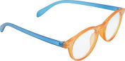 Anti Reflective Computer Glasses Block Blue Light and UV with Clear Lens for Kids and Teens - School Boy and Girl Style - Blue and Orange with 2 in 1 Stylus Pen