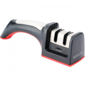 Koolife Knife Sharpener with 2 Stage Coarse & Extra-Fine Sharpening System for Knives in All Sizes,Black