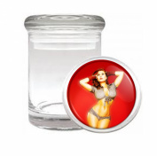Sexy Pinup Girl Hips Medical Odourless Glass Jar