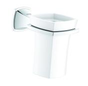 Grohe 40626000 Grandera Ceramic Tumbler with Holder