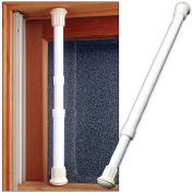 (Set/12) Window Security Bar Locks Onto Frame- Sturdy Steel Adjusts 43cm - 70cm