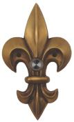 Fleur De Lis Brass Large Doorbell - Finish