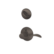 Schlage F59 ACC 613 LH Accent Interior Left-Handed Lever with Deadbolt, Oil Rubbed Bronze