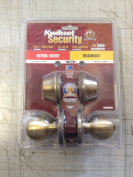 Kwikset 695 Polo Entry Knob and Double Cylinder Deadbolt Combo Pack in Antique Brass
