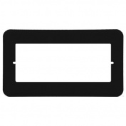 RETRO Music & Intercom Master Station Trim Cover Plate - Black - RETRO-MTPB