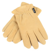 Forney 53117 Deerskin Leather Driver Suede Lined Men's Gloves Large