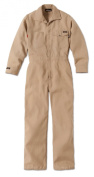 Workrite Flame-Resistant 130ml Nomex IIIA Industrial Coverall, Snap Wrist, Large, Long Length, Khaki