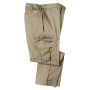 Dickies Occupational Workwear 2112372DS 38x34 Polyester/ Cotton Relaxed Fit Men's Premium Industrial Cargo Pant with Str