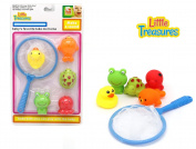 Floating Animal Bathtime Bath Toys Children Can Play Fishing While Bath Time Catch and Release Baby Toy Pack with Interchangeable Animals