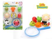 Floating bath toys with net Bathtub Splash and Catch Bath Time Fishing Set