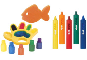 Alex Toys Paint in the Tub Finger Paints with Bath Crayons