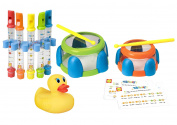 Alex Toys Water Flutes + Water Drums Bath Set with Bonus White Hot Bath Ducky