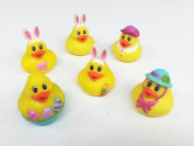 GIFTEXPRESS 12pcs Easter Rubber Ducks/Bunny Rubber Ducks perfect for Easter Egg hunt/Easter baskets/Easter festival/Easter Centrepiece/pre-school parties/cake toppers
