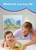 Bathtub Toy Organiser +Toy Organiser net for the 2 bathroom Bonus Suction Cups Baby Toy Organiser with Bonus eBooks - Re-Washable baby bath toy storage bag is Mould Resistance Stays Clean In the Shower