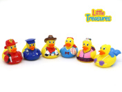 Rubber Duck baby bath toys for all infants and toddlers, a set of six squirts, perfect size and softness for little hands