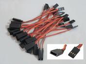 20pcs 10cm 100mm Male to Female JR Plug RC Servo Extension Lead Wire Cable
