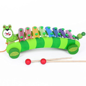 Baby Kid Lovely Caterpillar Xylophone Musical Toys Wooden Instrument