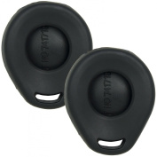 2 New Silicone Cover Protective Cases for Harley-Davidson Remote Key Fobs with FCC L2C0028TR - Black