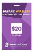 Seniors Wireless Prepaid Unlimited Calls text and Internet