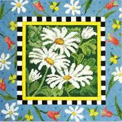 Candamar Designs Daisy Daisy Needlepoint Pillow Kit, 30cm x 30cm