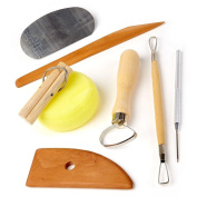 Lot of 5 Clay Pottery Tool Kits 8 Pc SET Ceramics Wax Carving Sculpting Moulding