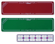 Colour Evaluator II - Red & Green Viewing Filter Set - Colour value finder / grey scale contrast evaluator. Get the right colour mix for your project. *** Bonus Free 2.5cm x 15cm Ruler a $4.99 value ***