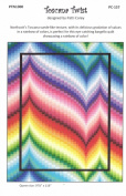 Toscana Twist Quilt Pattern Bargello Pieced from Yardage, 3 Sizes Lap Twin Queen