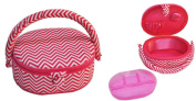 Suzy's Hobby Baskets Small Oval Pink Chevron