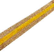 Metallic Gold Yellow Velvet Thin Ribbon Traditional Trim Border Sewing Indian Lace 4 Yard