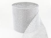 Sparkles Make It Special 12cm 24 Row Rhinestone Ribbon Wrap 10 Yards Wedding Cake Banding Diamond Silver