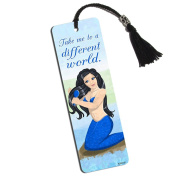 Beautiful Mermaid Printed Bookmark with Tassel