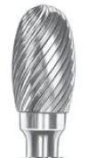 SGS Tool Company 13000 SE-5 Carbide Bur 1/2 Diameter 1/4 Shank Diameter