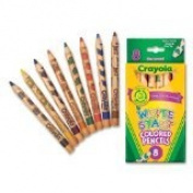 Crayola 8ct Write Start Coloured Pencils, Case of 24 Packs
