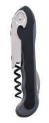 True by True Fabrications Restaurant Waiter Quality Soft-Touch Corkscrew with Serrated Foil Cutter, Black