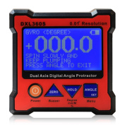 Floureon® Axis Level Box Inclinometer Dual Axis Digital Angle Protractor with 5 Side Magnetic Base