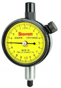 Starrett 81-161J Dial Indicator,0.5mm Measuring Range, 0.002mm Graduation, 0-10-0 Dial Reading, AGD Group 1, Jewelled Bea