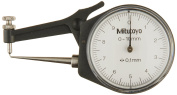Mitutoyo 209-603 Dial Calliper, Pointed Jaw, White Face, 0-10mm Range, +/-0.1mm Accuracy, 0.1mm Resolution, Meets IP65 Sp