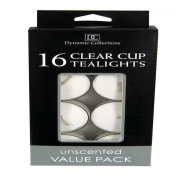 16pk Clear Cup Tealights White
