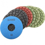 "5"" 5.0mm Wet Polishing Pads Set of 7 PCS for Granite / Concrete / Stone Floor"