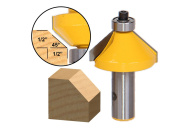 45° Chamfer/Bevel Edging Router Bit - Large - 1/2 Shank - Yonico 13106